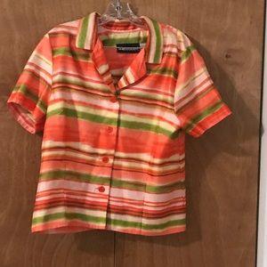 Sag Harbor Dress Button Down Blouse Size 16P